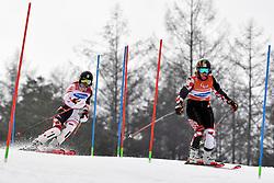 GOLUZA Eva B3 CRO Guide: ZIGMAN Ana competing in the ParaSkiAlpin, Para Alpine Skiing, Slalom at the PyeongChang2018 Winter Paralympic Games, South Korea.