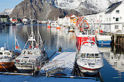 Henningsvær harbour, in the Lofoten Islands of Northern Norway.