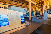Interpretive display at the Craig Thomas visitor center, Grand Teton National Park, Wyoming USA