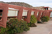 Exterior, Taliesin West, Scottsdale, AZ. Frank Lloyd Wright Center.