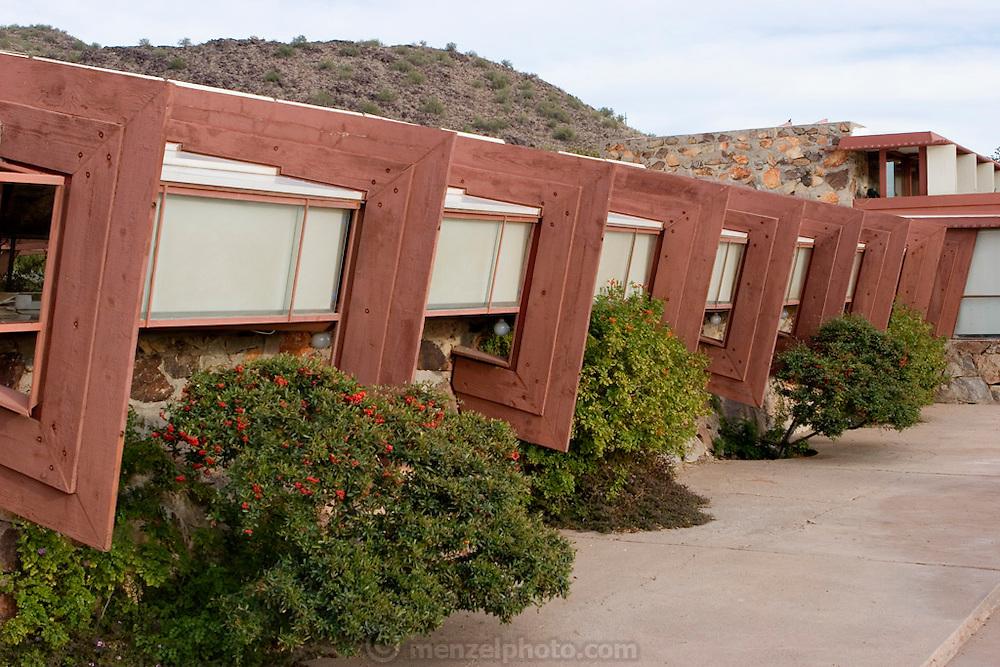 Exterior, Taliesin West, Scottsdale, AZ. Frank Lloyd Wright Center.