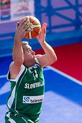 Slavko Kotnik during exhibition match between Croatia, Italy and Slovenia at Eurobasket 2013 promotion Basketball on sea raft on August 24, 2013, Koper, Slovenia. (Photo by Matic Klansek Velej / Sportida.com)