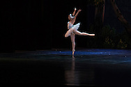 Principal dancer Truong Cam Anh of Vietnam National Opera & Ballet dances as the Swan Princess in a performance of Swan Lake at the Hanoi Opera House, Vietnam, Southeast Asia