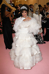 Joan Collins attending the Costume Institute Benefit at The Metropolitan Museum of Art celebrating the opening of Heavenly Bodies: Fashion and the Catholic Imagination. The Metropolitan Museum of Art, New York City, New York, May 6, 2019. Photo by ABACAPRESS.COM