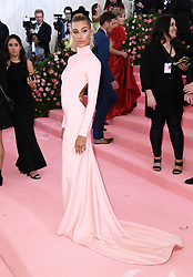 """Hailey Baldwin at the 2019 Costume Institute Benefit Gala celebrating the opening of """"Camp: Notes on Fashion"""".<br />(The Metropolitan Museum of Art, NYC)"""