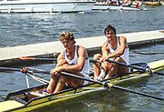 Henley, England, 1987 Henley Royal Regatta, River Thames, Henley Reach,  [© Peter Spurrier/Intersport Images], Double Sculls Challenge Cup winners N. CHOUPINA and V DOSENKO, Dinamo, Moscow,