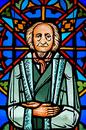 Stained glass depicting depicting C. F. W. Walther, photographed at St. Paul Lutheran Church in the Marigny area of New Orleans on Saturday, July 10, 2021. LCMS Communications/Erik M. Lunsford
