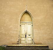 Church door Virginia City, Montana.