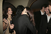 Giambattista Valli and Penelope Cruz. Charles Finch and Chanel 7th Anniversary Pre-Bafta party to celebratew A Great Year of Film and Fashiont at Annabel's. Berkeley Sq. London W1. 10 February 2007. -DO NOT ARCHIVE-© Copyright Photograph by Dafydd Jones. 248 Clapham Rd. London SW9 0PZ. Tel 0207 820 0771. www.dafjones.com.