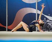 Beatrice Fioravanti from Petrarca team during the Italian Rhythmic Gymnastics Championship in Padova, 25 November 2017.