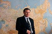 Moscow, Russia, 1997..Billionaire businessman Vladimir Potanin, Chairman of the Interros holding company.