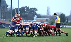 Doncaster Knights and Bristol Rugby scrum - Mandatory by-line: Robbie Stephenson/JMP - 13/01/2018 - RUGBY - Castle Park - Doncaster, England - Doncaster Knights v Bristol Rugby - B&I Cup