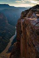 Steep rugged cliffs above the Colorado River at Toroweap, Grand Canyon National Park, Arizona