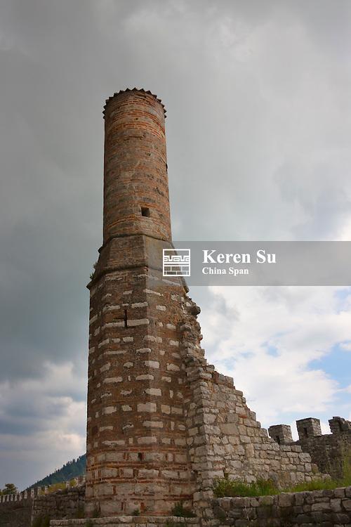 Red Mosque, a ruined mosque in Berat Castle (UNESCO World Heritage site), Albania