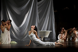 """© Copyright licensed to London News Pictures. 26/10/2010. Ruth Amarante (centre) as Iphigenie. """"Iphigenie auf Tauris"""", Tanztheater Wuppertal Pina Bausch, Sadler's Wells. A rare performance of Gluck's masterpiece."""