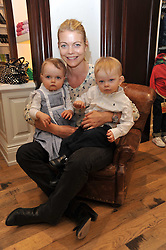 Sharky & George and the RL Gang hosted a pre-Easter Holiday party in support of CLIC Sargent at the Ralph Lauren Children's store, 139/141 Fulham Road, London SW3 on 23rd March 2011.<br /> Image shows:- The COUNTESS OF MORNIGTON and her children MAE and DARCY.
