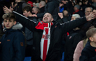Sheffield United Fan during the Premier League match at Selhurst Park, London. Picture date: 1st February 2020. Picture credit should read: Paul Terry/Sportimage