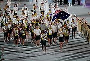 Australia during the Opening Ceremony of the Tokyo 2020 Olympic Games. Tuesday 27th July 2021. Mandatory credit: © John Cowpland / www.photosport.nz