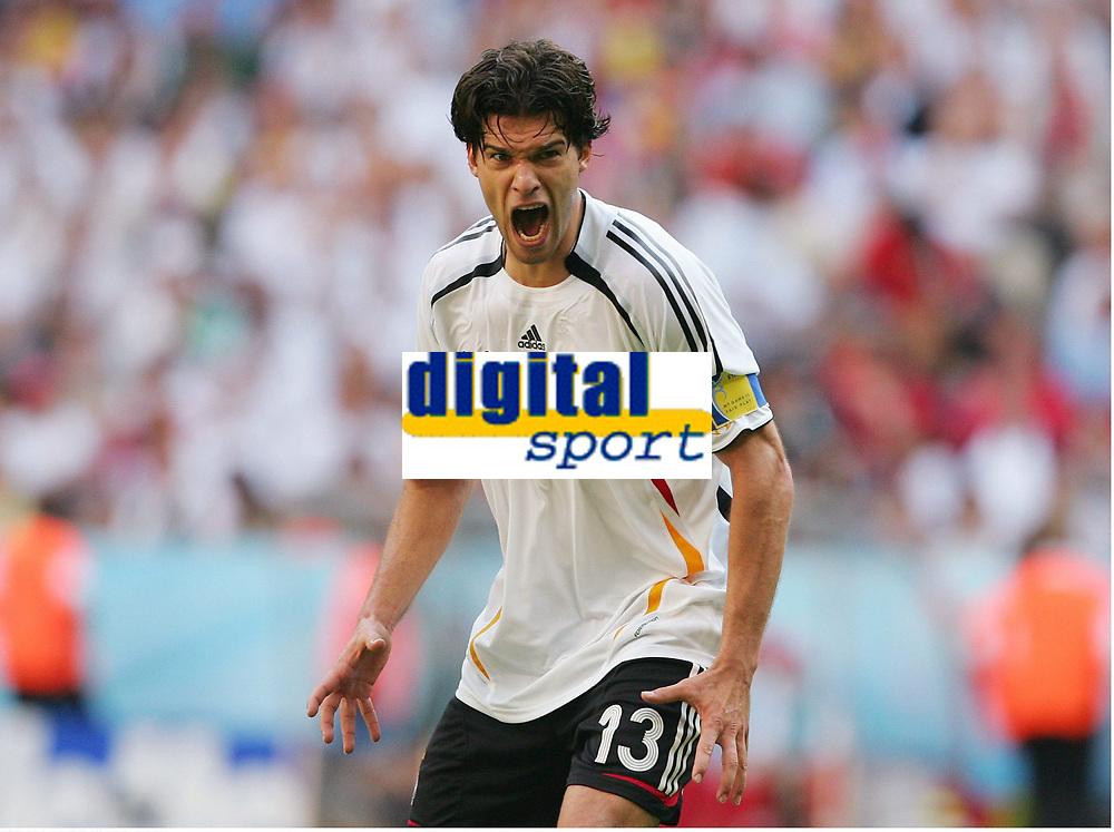 Michael Ballack Deutschland<br /> Fussball WM 2006 Achtelfinale Deutschland - Schweden<br />  Tyskland - Sverige<br /> Norway only