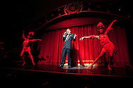 CHINA / Shanghai / Shanghai Jazz Scene..The Chinatown, Frank Bray singing during the Burlesque performance / Assignment for Silkroad magazine