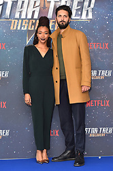 Sonequa Martin-Green and Shazad Latif pictured at a Star Trek: Discovery fan screening, at Milbank Tower in London. PRESS ASSOCIATION Photo. Picture date: Sunday November 5th, 2017. Photo credit should read: Matt Crossick/PA Wire.