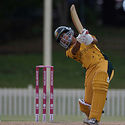 Lisa Sthalekar batting during the ICC Women's World Cup Cricket play off for third place between Australia and India at Bankstown Oval, Sydney, Australia on March 21, 2009. India beat Australia by three wickets.Photo Tim Clayton