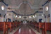 South Pacific, Samoa, Upolu Island Apia interior of Catholic Church