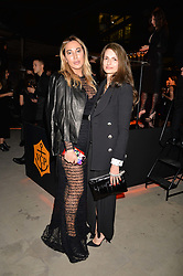 Alex Meyers and Alessandra Rich at the Veuve Clicquot Widow Series launch party curated by Carine Restoin-Roitfeld and CR Studio held at Islington Green, London England. 19 October 2017.