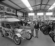 Maurice O'Donoghue and Lucey i the Transport Treasures museum.<br /> Photo: Don MacMonagle <br /> e: info@macmonagle.com
