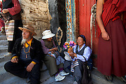 Drepung Monastery, formerly Tibet's largest, is visited by thousands of pilgrims as some of its inner sanctums are opened, Lhasa.