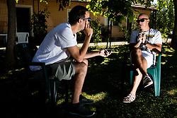Rok Predanic, former Slovenian athlete and coach, interviewed by Rok Viskovic of Siol Sportal, on July 10, 2020 in ZAK, Ljubljana, Slovenia. Photo by Vid Ponikvar / Sportida