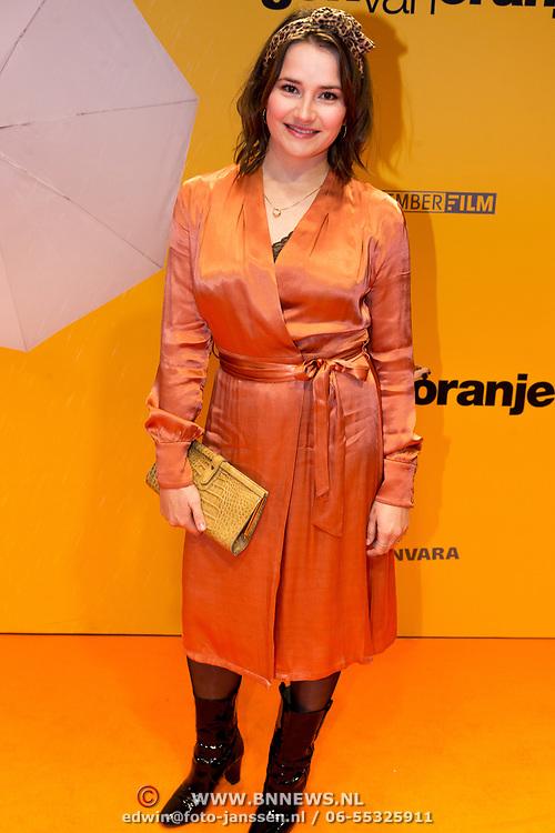 NLD/Amsterdam/20180212 - Premiere Gek op Oranje, Barbara Sloesen