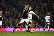 Derby County attacker Tom Ince (10) dribbling and starting an attack during the EFL Sky Bet Championship match between Fulham and Derby County at Craven Cottage, London, England on 17 December 2016. Photo by Matthew Redman.