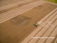 63801-09504 Soybean Harvest, John Deere combine harvesting soybeans - aerial - Marion Co. IL