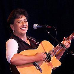 Mahinarangi Tocker performs in the Heineken Festival Club / Pacific Crystal Palace, at the New Zealand International Arts Festival 2004, Wellington New Zealand.