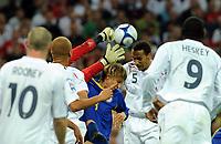 Rio Ferdinand Scores 1st Goal<br /> England 2008/09<br /> England V Kazakhstan World Cup 2010 Qualifier Group 6 11/10/08<br /> Photo Robin Parker Fotosports International