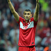 Turkey's Burak YILMAZ during their UEFA EURO 2012 Qualifying round Group A matchday 19 soccer match Turkey betwen Germany at TT Arena in Istanbul October 7, 2011. Photo by TURKPIX