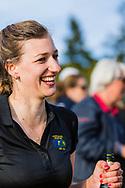 17-05-2015 NGF Competitie 2015, Hoofdklasse Heren - Dames Standaard - Finale, Golfsocieteit De Lage Vuursche, Den Dolder, Nederland. 17 mei. Dames Noordwijkse: Tessa de Bruijn , feesten na de overwinning.