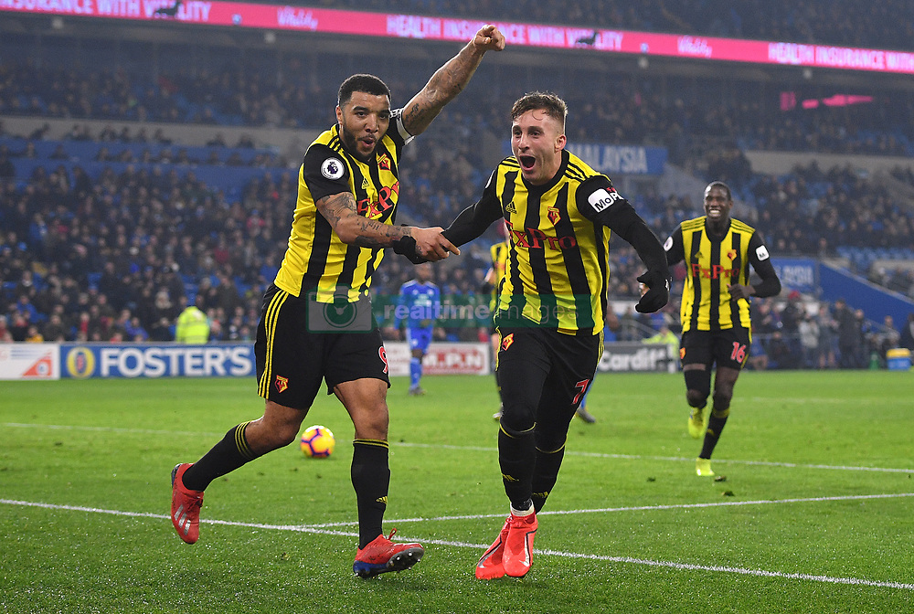 File photo dated 22-02-2019 of Watford's Troy Deeney (left) and Gerard Deulofeu