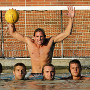 LOS ANGELES, CA, NOVEMBER 2, 2006:  Adam Shilling is the goalie for the championship USC water polo team. Photographed at the USC complex in Los Angeles, CA. (Photograph by Todd Bigelow/Aurora)...