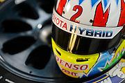 29th October - 1st November 2015. World Endurance Championship. 6 Hours of Shanghai.  Shanghai International Circuit, China. Alexander Wurz's helmet