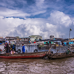 Can Tho (floating Market), Mekong Delta, South Vietnam