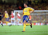 Claus Lundekvam (Southampton). Arsenal v Southampton FA Cup Final 2003 @ Cardiff Arms Park. 17/5/2003. Credit : Colorsport/Andrew Cowie.