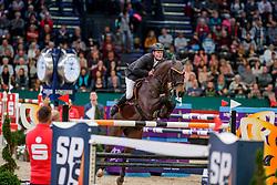 WERNKE Jan (GER), Nashville HR<br /> Leipzig - Partner Pferd 2020<br /> Longines FEI Jumping World Cup™ presented by Sparkasse<br /> Sparkassen Cup - Großer Preis von Leipzig FEI Jumping World Cup™ Wertungsprüfung <br /> Springprüfung mit Stechen, international<br /> Höhe: 1.55 m<br /> 19. Januar 2020<br /> © www.sportfotos-lafrentz.de/Stefan Lafrentz