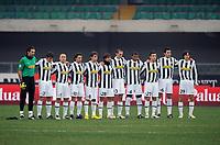 "minuto di silenzio juve<br /> Verona, 17/01/2010 Stadio ""Bentegodi""<br /> Chievo-Juventus<br /> Campionato Italiano Serie A 2009/2010<br /> Foto Nicolò Zangirolami Insidefoto"
