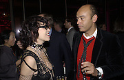 Martine Boutron and Christian Loubatain. Yves St. Laurent. last couture collection, 1962-2002. Pompidou Centre. Paris. 22 January 2002. © Copyright Photograph by Dafydd Jones 66 Stockwell Park Rd. London SW9 0DA Tel 020 7733 0108 www.dafjones.com