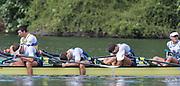 "Rio de Janeiro. BRAZIL.  GBRM4X. Bow. <br /> Jack BEAUMONT, San TOWNSEND, Angus GROOM and Pete LAMBERT, 2016 Olympic Rowing Regatta. Lagoa Stadium,<br /> Copacabana,  ""Olympic Summer Games""<br /> Rodrigo de Freitas Lagoon, Lagoa. Local Time 10:18:37  Thursday  11/08/2016 <br /> [Mandatory Credit; Peter SPURRIER/Intersport Images]"