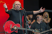 Barry Gibb of the Bee Gees plays the Pyramid Stage - The 2017 Glastonbury Festival, Worthy Farm. Glastonbury, 25 June 2017
