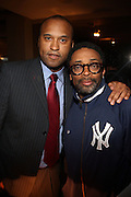 l to r: Londell McMillan and Spike Lee at Rev. Al Sharpton's 55th Birthday Celebration and his Salute to Women on Distinction held at The Penthouse of the Soho Grand on October 6, 2009 in New York City