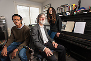 COLUMBIA, MD -- 12/20/14 -- Tom Monroe, 58, and his sons, Elias Jack-Monroe, 17, and Theo Jack-Monroe, 14, talk about the complexity of being a biracial family.…by André Chung #_AC23379